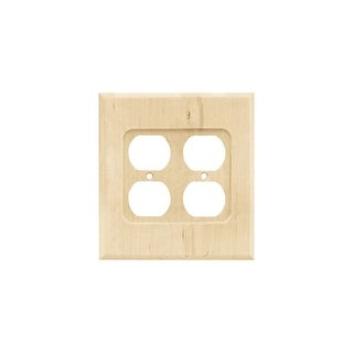 Shop Franklin Brass W10397v R Wood Square Single Duplex Outlet Wall