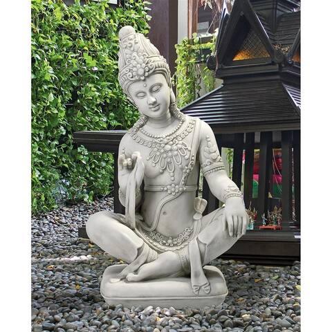 Design Toscano Sitting Thai Teppanom Beautiful Being Statue