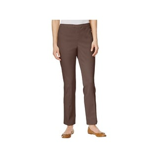 Karen Scott Womens Petites Casual Pants Twill Straight Leg - ps
