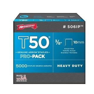 "Arrow 506IP Pro-Pack T50 Staples, 3/8"""