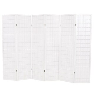 "vidaXL Folding 6-Panel Room Divider Japanese Style 94.5"" White"