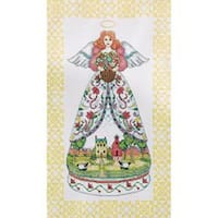 """Summer Angel-Jim Shore Counted Cross Stitch Kit-9""""X15"""" 14 Count"""