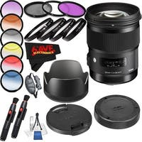 Sigma 50mm f/1.4 DG HSM Art Lens International Version (No Warranty) Professional Accessory Combo