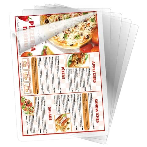 BLACK+DECKER Menu Size Laminating Pouches, 5 mil, 25 Pack - menu size, 5 mil, 25 pack