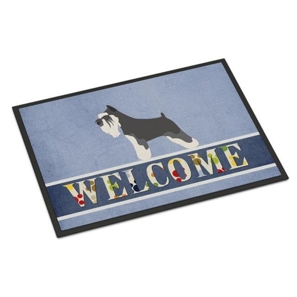 Carolines Treasures BB8298JMAT Miniature Schnauzer Welcome Indoor or Outdoor Mat - 24 x 36 in.