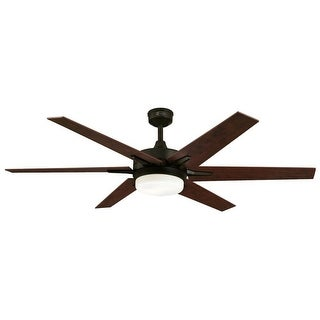 Westinghouse 7207800 Cayuga 2 Light 6 Blade LED Hanging Ceiling Fan with Reversible Blades, Light Kit, Remote Control and