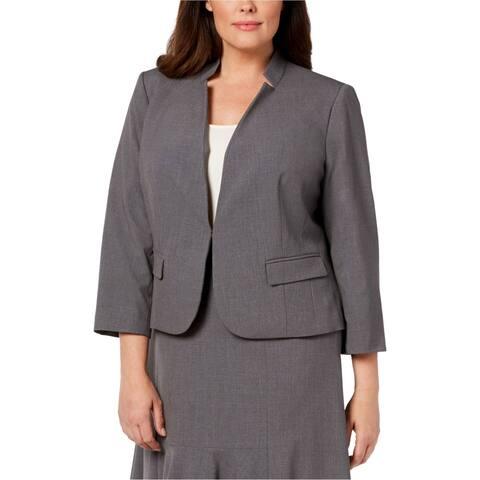 Nine West Womens Inverted Notch Blazer Jacket