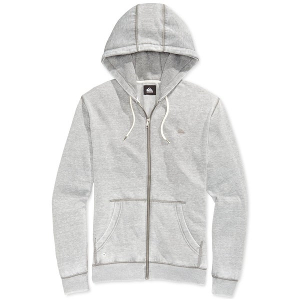 7d5dc55fd3 Quiksilver NEW Gray Mens Size 2XL Full Zip Hooded Hoodie Sweater