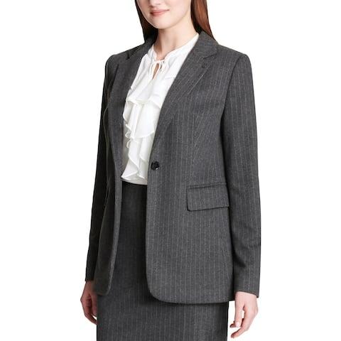 Tommy Hilfiger Womens One-Button Blazer Pinstripe Suit Separate