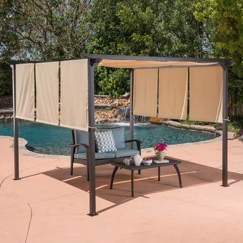 Lawrence Steel Outdoor 9.5-foot Gazebo by Christopher Knight Home