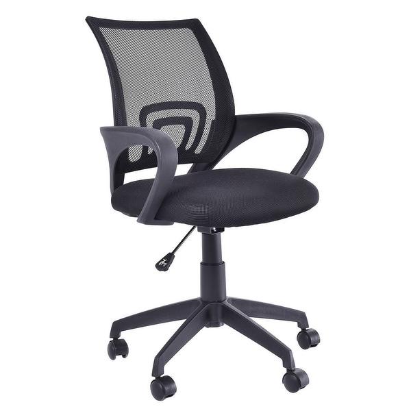 shop costway ergonomic mid back mesh computer office chair desk task