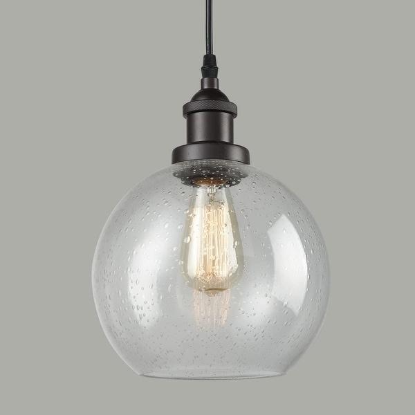 Bellaria Industrial Vintage Bubble Glass Pendant Light Metal ORB Hanging Lighting. Opens flyout.