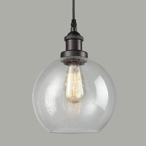 Bellaria Industrial Vintage Bubble Glass Pendant Light Metal Hanging Lighting