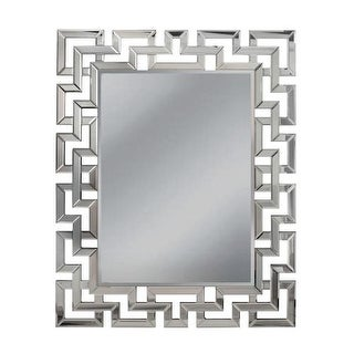 "Mirror Masters MG5472 Greek Key 37"" Rectangular Mirror with Decorative Frame"