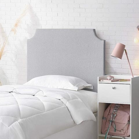 DIY Headboard - College Bedding Headboard - Light Gray