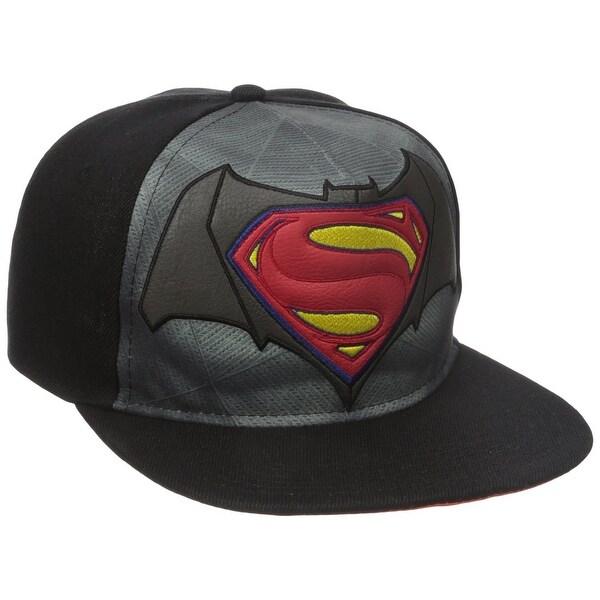 35840550c9 Shop Batman vs Superman Dawn of Justice Flat Brim Baseball Cap - Free  Shipping On Orders Over  45 - Overstock - 18681049