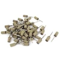 3mm Shank 10mm Cylinder Head Cow Leather Polishing Grinding Mounted Point 100pcs