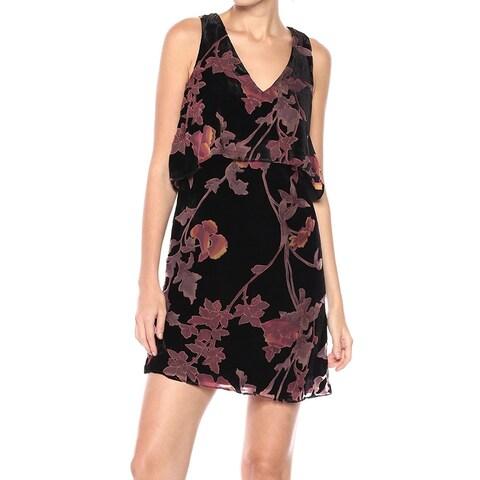 Jessica Simpson Black Women's Size 6 Velvet Popover Shift Dress