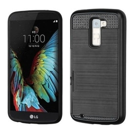 InstenDual Layer Hybrid Rubberized Hard PC/ Silicone ID/ Card Slot Case Cover For LG K10