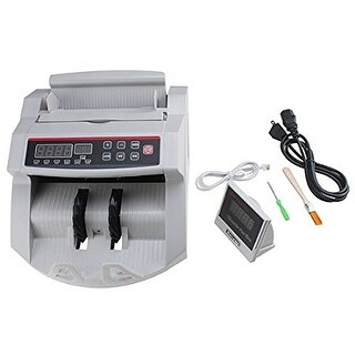 AGPtek Bill Money Counter with Display/Currency Cash Counter Bank Machine, UV and MG(magnetic) Counterfeit Detector