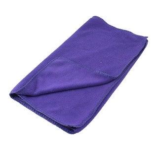 Purple Rectangular Microfiber Water Absorbent Pet Dog Puppy Drying Towel