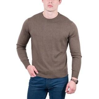 Maglierie Di Perugia Taupe Crew Neck Classic Sweater - eu=52/us=l-xl