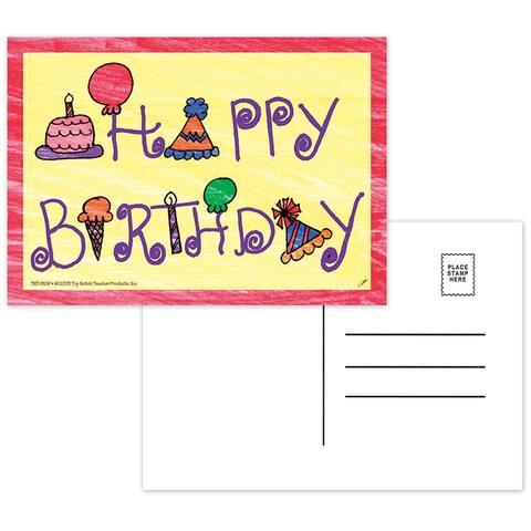 (12 Pk) Happy Birthday Postcards