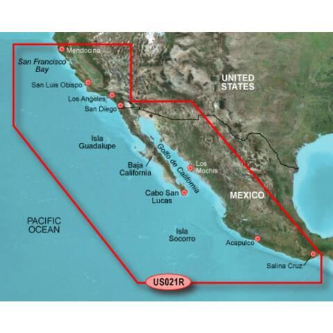 Garmin 010-C0722-00 Bluechart g2 vision VUS021R, California-Mexico (SD Card) - Blue