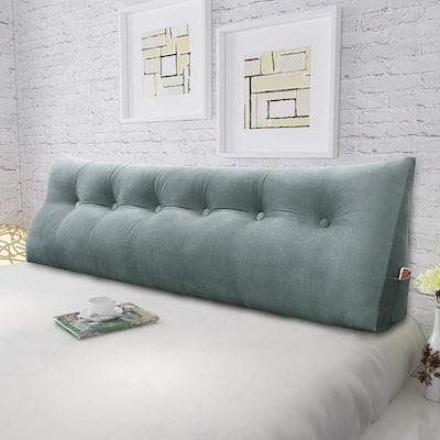 WOWMAX Bed Rest Wedge Bolster Back Support Reading Pillow Velvet