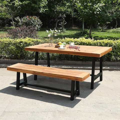 Sophia & William 2/3-Piece Wooden Garden Benches with or without the Wooden Garden Table