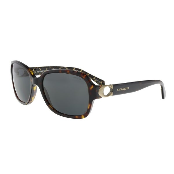 f3634ca814 Shop Coach HC8241 550787 Dark Tortoise Rectangle Sunglasses - 57-17 ...