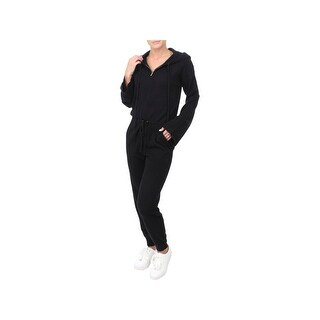 Juicy Couture Black Label Womens Jumpsuit Cashmere Hooded