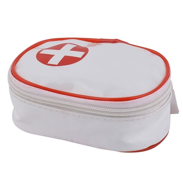Camping PU Emergency First Responder Aid Rescue Survival Storage Bag White
