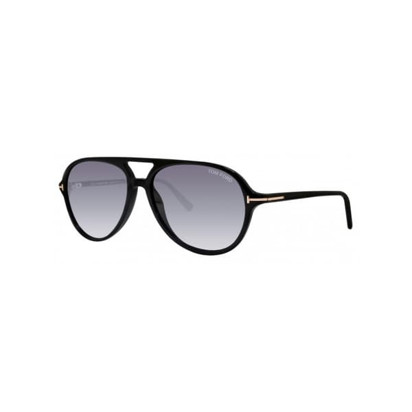 25b43ff7f8f Shop Tom Ford Jared Aviator Sunglasses Oversized Gradiant - Black - O S -  Free Shipping Today - Overstock - 18402092