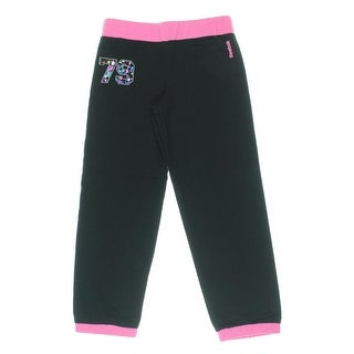 Reebok Girls French Terry Graphic Jogger Pants - M