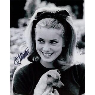 Signed Deneauve Catherine BW 8x10 Photo autographed