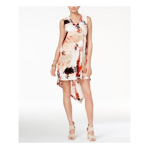 Bar III Womens Printed Paneled Pleated Maxi Skirt