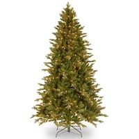 6.5' Pre-Lit  Avalon Spruce Christmas Tree – Clear Lights - green