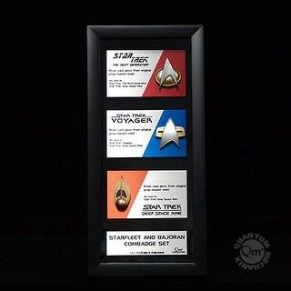 Star Trek Communications Badge Replica Artisan Edition Framed Set Of 3 - multi