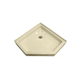 "American Standard 4242.NEO Neo Angle 42"" X 42"" Reinforced Acrylic Shower Pan - Triple Threshold - with Rear Drain"