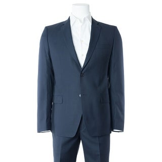 Versace Men's Classic Navy 100% Wool Two Button Suit