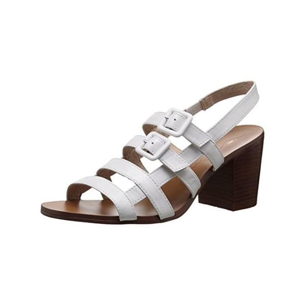 Nina Womens Weslee Heels Open Toe Buckle - 6.5 medium (b,m)