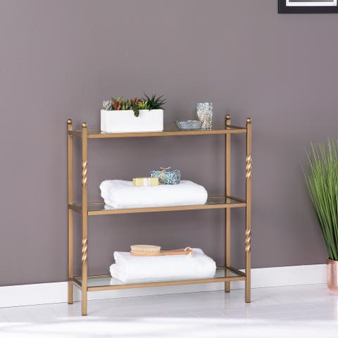Harper Blvd Randzo Transitional Gold Metal 3-Tier Shelf