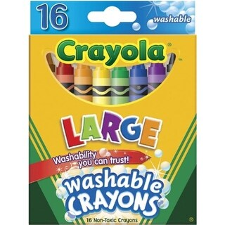 Crayola 52-3281 Crayola Large Washable Crayons