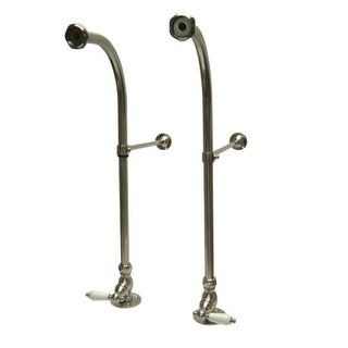 Elements Of Design DS458PL Rigid Freestanding Supply Lines with Porcelain Lever Handles for Leg Tubs from the Vintage Collection