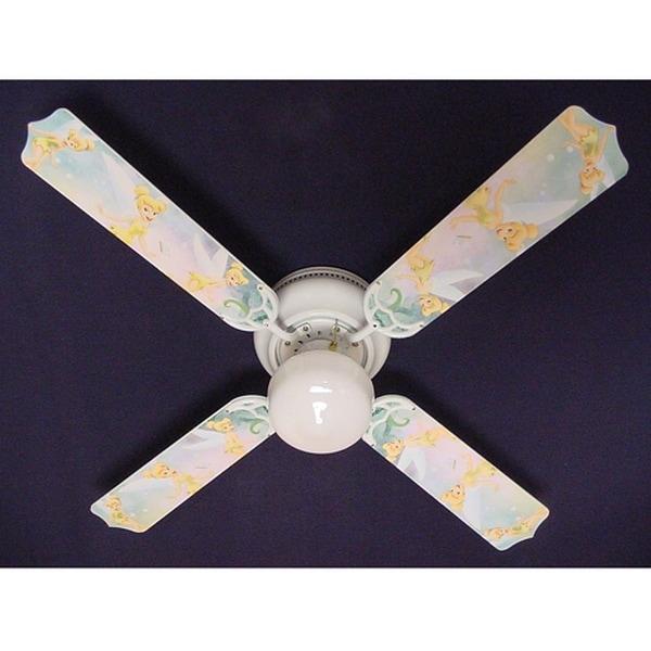 Light Green Disney Tinkerbelle Print Blades 42in Ceiling Fan Light Kit - Multi