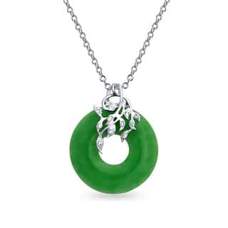Bling Jewelry CZ Leaves and Dyed Green Jade Disc Pendant .925 Sterling Silver|https://ak1.ostkcdn.com/images/products/is/images/direct/4d1ae599a3f02ed22efdca174b1b4321406c438d/Bling-Jewelry-CZ-Leaves-and-Dyed-Green-Jade-Disc-Pendant-.925-Sterling-Silver.jpg?impolicy=medium
