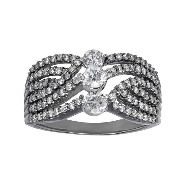 1 ct Diamond Ring in 14K White Gold