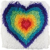 """From The Heart - Shaggy Latch Hook Kit 12""""X12"""""""