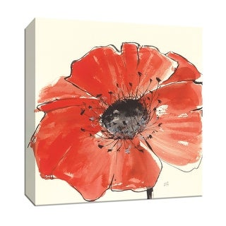 """PTM Images 9-153271  PTM Canvas Collection 12"""" x 12"""" - """"Spring Poppy IV"""" Giclee Flowers Art Print on Canvas"""